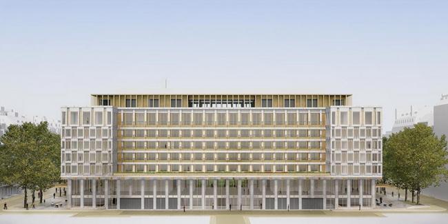 Бывшее здание посольства США в Лондоне – трансформация в отель. Изображение: David Chipperfield Architects