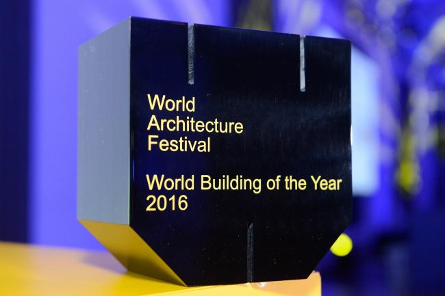 Среди пяти наград, вручаемых на фестивале WAF (Лучший будущий проект, Лучшая постройка, Лучший интерьер, Лучший ландшафт и Лучший малых объект), самым главным является приз «Лучшее здание мира» © WAF 2016