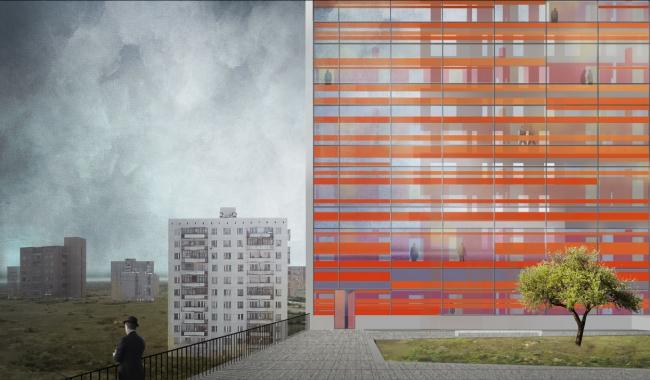 Гостиница **** (Ярославль).  DK architects (ООО «ДК»). Изображение предоставлено СМА