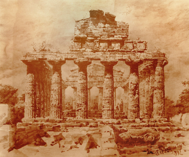 Храм Афины в Пестуме. Максим Атаянц, 1992