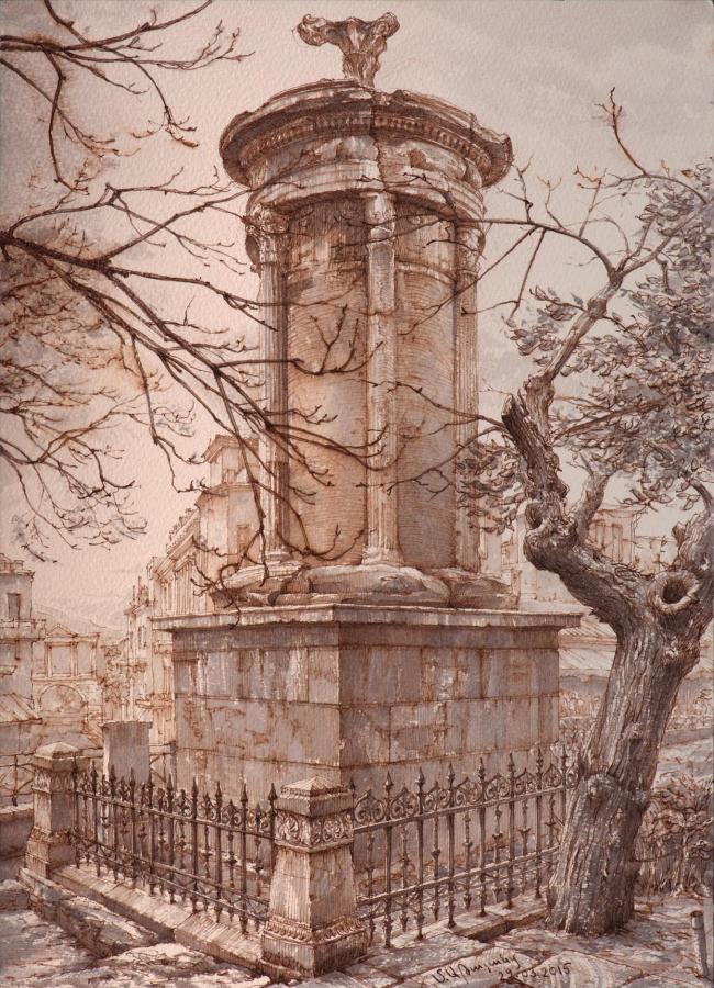 Памятник Лисистрата в Афинах. Максим Атаянц, 2015