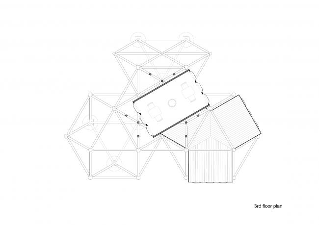 Plugin Tower, проект. План 3 этажа © People's Architecture Office