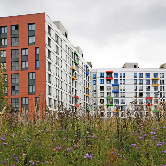 Жилой район «Северный», г.Москва, первая очередь, 2015, в процессе строительства. Фотография © Архитектурная группа ДНК