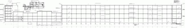Реконструкция кондитерско-булочного комбината «Простор». Разрез. Проект, 2015 © Архстройдизайн