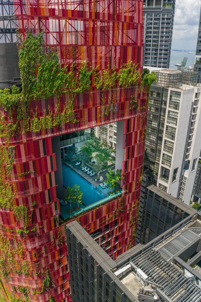 Башня Oasia Hotel Downtown © WOHA, K.Kopter