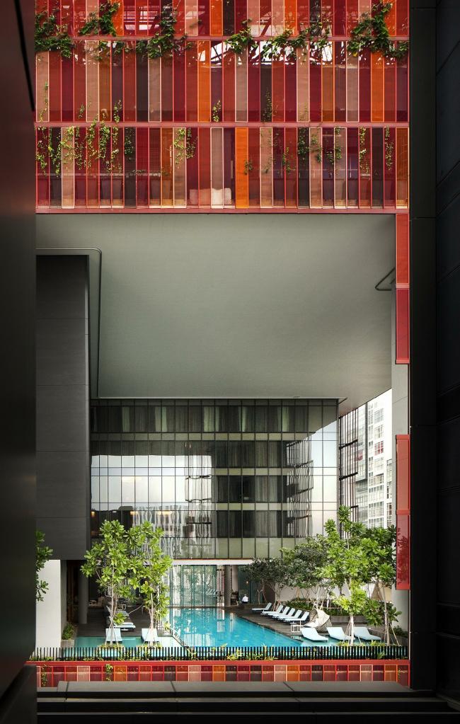 Башня Oasia Hotel Downtown © WOHA, Patrick Bingham-Hall