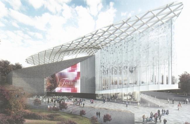 Концертный зал филармонической музыки в парке Зарядье. Проектная организация: ТПО «Резерв» Заказчик: «Мосинжпроект»