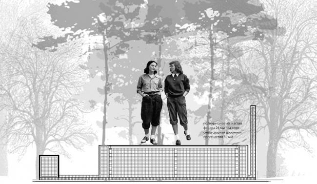Концепция входной группы Трехгорной мануфактуры. Автор: Анастасия Иванова (II место). Вокршоп в рамках ХХIV Международного фестиваля «Зодчество» 2016 года – «Пространство потом / Afterspace».