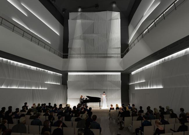 Филармония в парке «Зарядье». Малый концертный зал (репетиционный). Проект, 2016 © ТПО «Резерв»