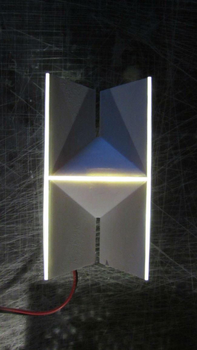 Объемные буквы «Пенза». Макет буквы «Н» с подсветкой © Объединение архитекторов «Вещь!»
