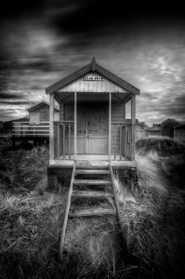 Пляжный домик, Великобритания © Rod Edwards