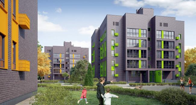 Резиденция Горки. Визуализация. Общий вид застройки © sp architects