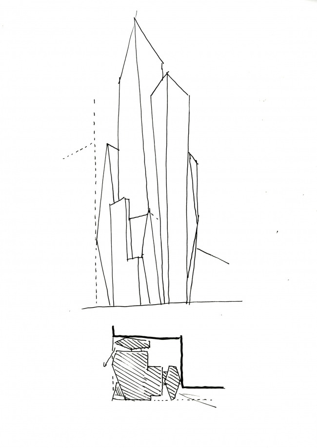 Башня Prism Tower © Christian de Portzamparc