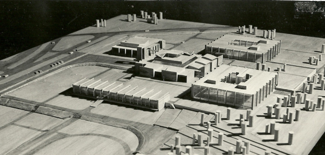 Макет комплекса МИЭТ. Взгляд с севера. 1966 г.
