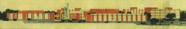 Диагональный фасад комплекса