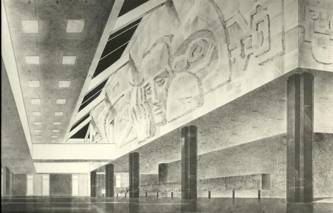 Эскиз главного вестибюля
