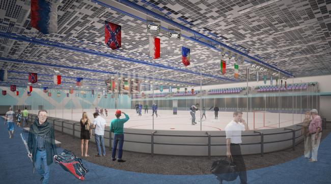 Спортивно-оздоровительный комплекс в Химках. Ледовая арена. Проект, 2016 © Архитектуриум
