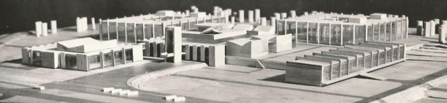 Макет комплекса МИЭТ. Взгляд с востока. 1966 г.