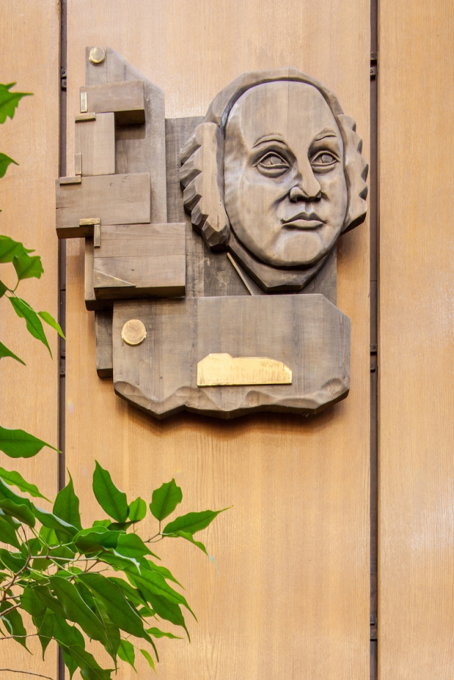 Портретная галерея библиотеки. Ломоносов. 2017 г. Фото © Денис Есаков
