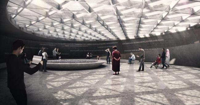 Конкурсный проект Мемориала Холокоста в Лондоне © MRC, Diamond Schmitt Architects