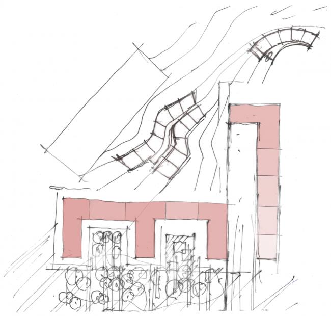 Многофункциональный жилой комплекс на территории завода «Филикровля». Эскиз. Проект, 2015 © SPEECH
