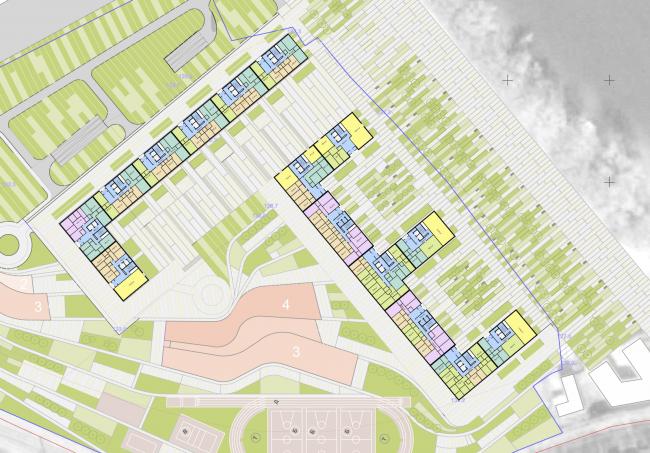 Многофункциональный жилой комплекс на территории завода «Филикровля». План 1 этажа. Проект, 2015 © SPEECH