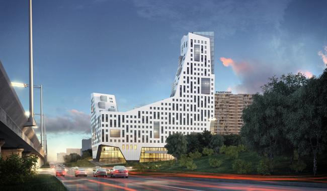 Бизнесцентр SkyLight  аренда офиса на северозападе Москвы