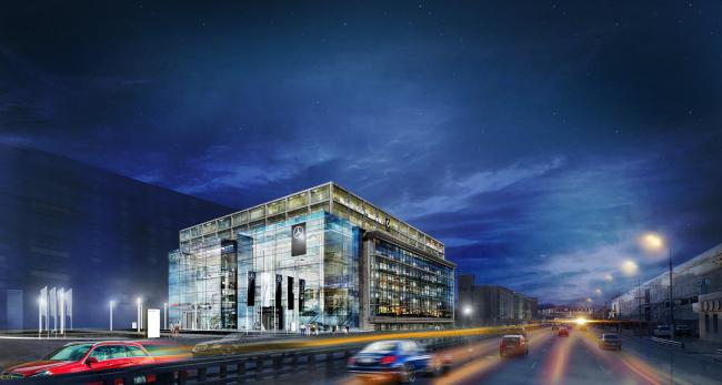 Дилерский центр «Авилон» на территории ЗИЛа. Проект, 2016 © Kleinewelt Architekten