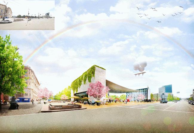 Концепция развития исторического центра Челябинска © de Architekten Cie