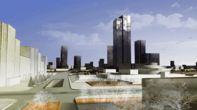 Концепция развития исторического центра Челябинска © ArchitectURAL Studio SW