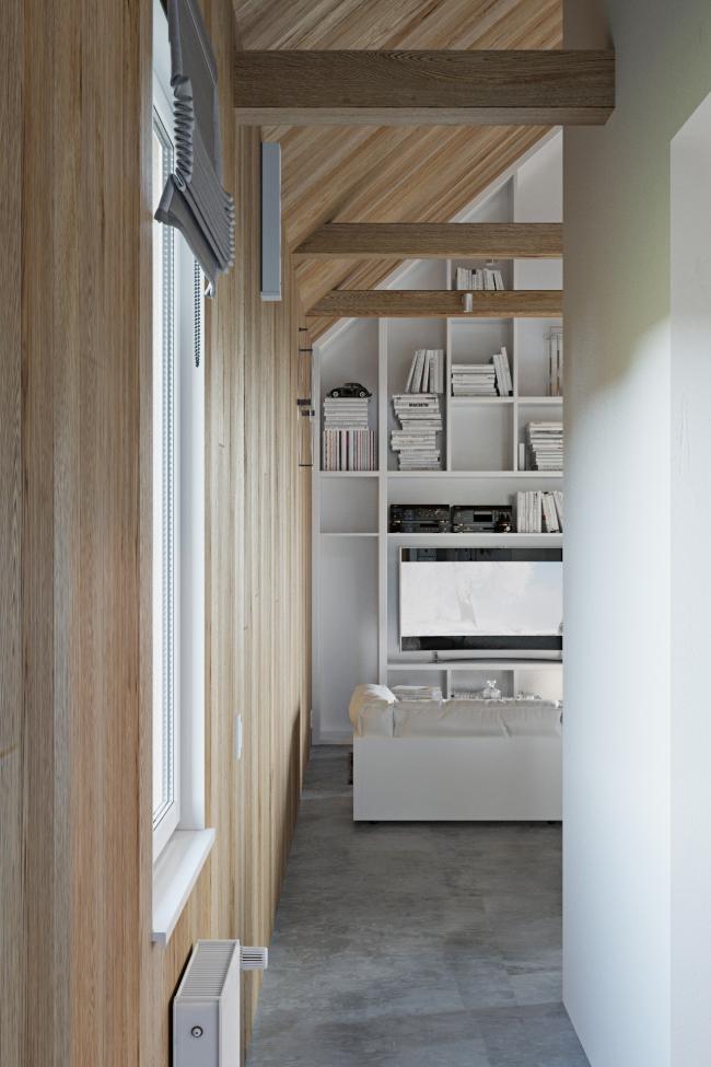 Русский стиль. Интерьер: вид с лестницы © Ilya Samsonov Architecture & Design