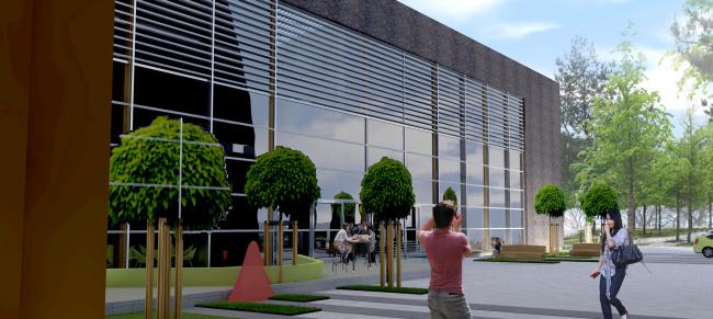 Административно-офисное здание с водогрейный котельной в г. Одинцово. Проект, 2015 © Архстройдизайн