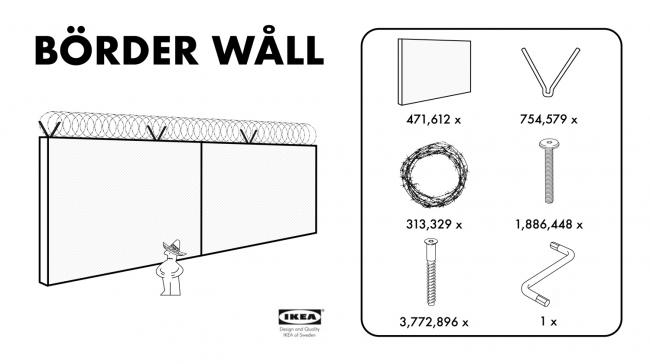 Проект Börder Wåll. Изображение с сайта the-postillon.com