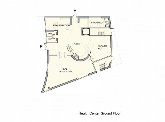 Центр культуры и здоровья компании COFCO. Центр здоровья © Steven Holl Architects