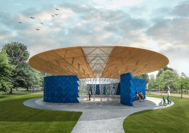 Летний павильон Галереи Серпентайн 2017 © Kéré Architecture