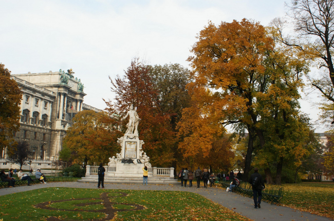 Бурггартен в центре Вены