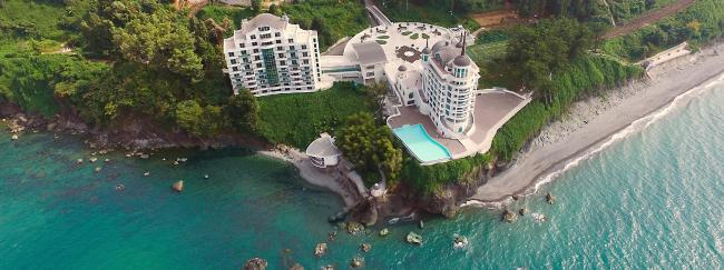 Гостинично-оздоровительный комплекс Castello Mare Hotel & Wellness Resort, постройка, 2016 © Karapi LTD