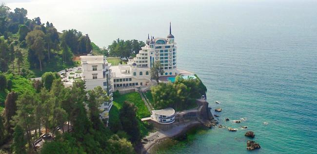 Castello Mare Hotel & Wellness Resort, панорама со стороны Кобулети, постройка, 2016 © Karapi LTD