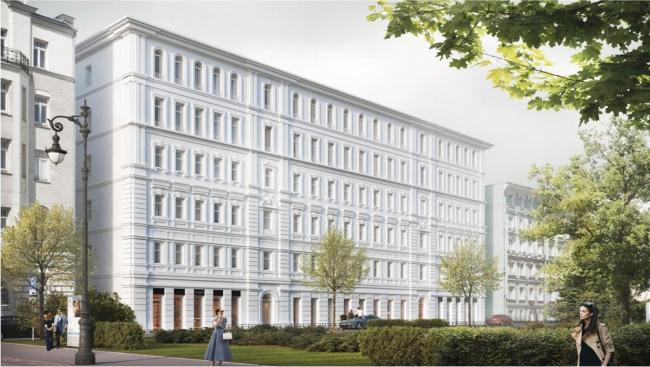 Проект регенерации комплекса зданий с проспособлением под жилье на Большой Полянке. Заказчик: «Полянка». Проектная организация: АБ «Цимайло, Ляшенко и партнеры»