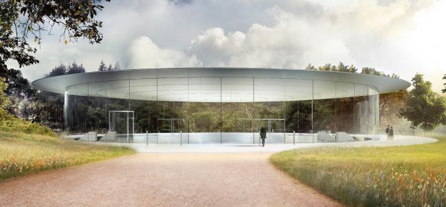 Кампус Apple Park – штаб-квартира компании Apple. Театр имени Стива Джобса © Apple