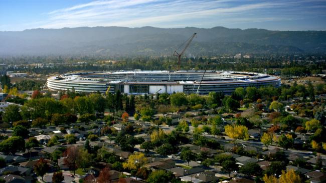 Кампус Apple Park – штаб-квартира компании Apple в ходе строительства © Apple