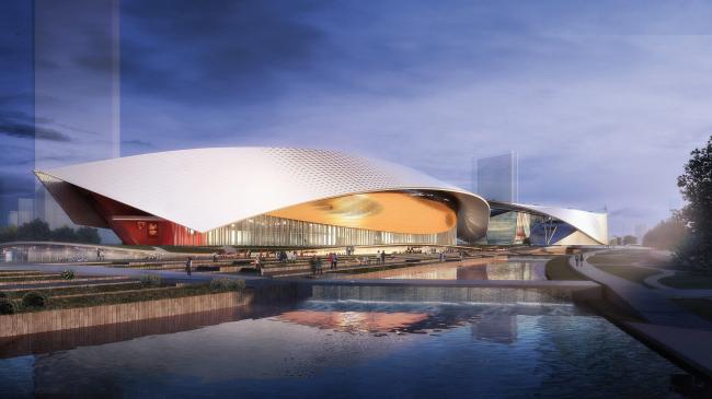 Здание театра в Сучжоу, Китай. 2013-2017. Визуализация © Кристиан де Портзампарк