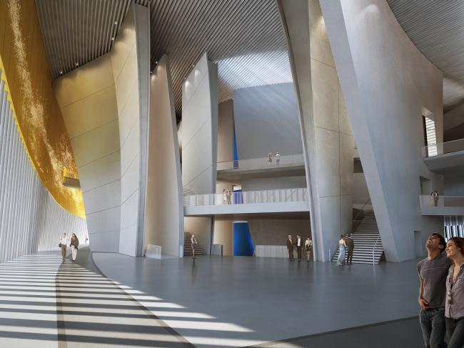 Здание театра в Сучжоу, Китай. 2013-2017. Вестибюль Визуализация © Кристиан де Портзампарк