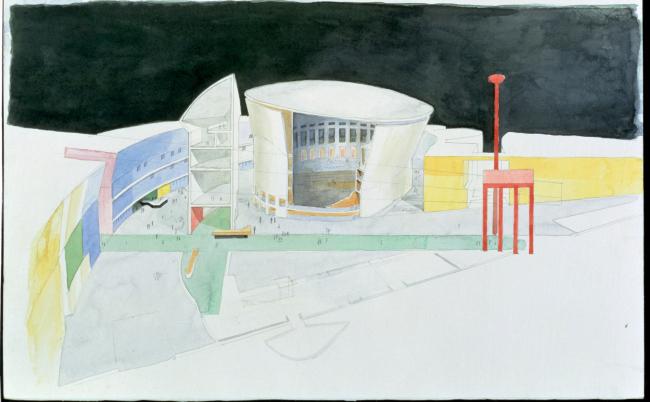 Город Музыки, Париж. 1984-1995. Эскиз © Кристиан де Портзампарк