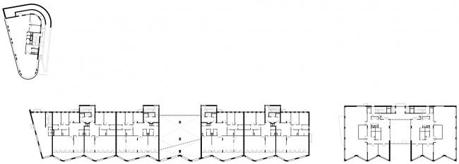 Жилой комплекс и офис на Пречистенской набережной. Общие планы, 2 этаж. Проект, 2005 © Остоженка