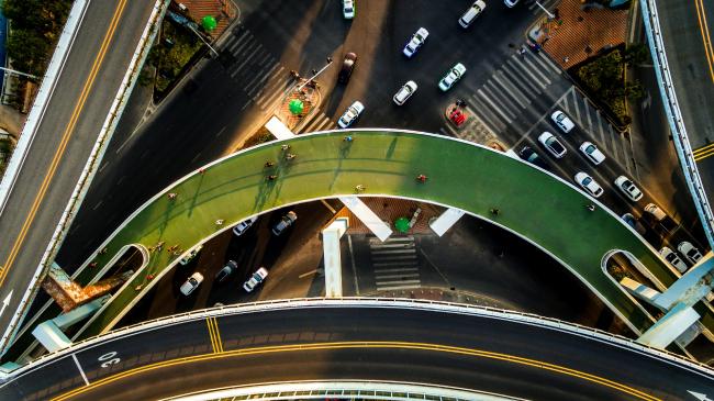 «Воздушная трасса» для велосипедов в Сямэне © Ma Weiwei