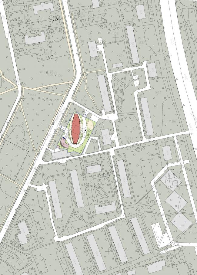 Ситуационный план. Жилой дом на Ивановской ул., 16 © Архитектурное бюро Асадова