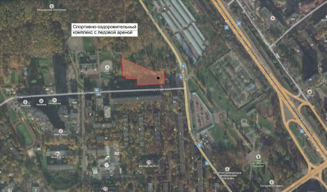 Ситуационный план. Спортивно-оздоровительный комплекс в Химках. Проект, 2016 © Архитектуриум