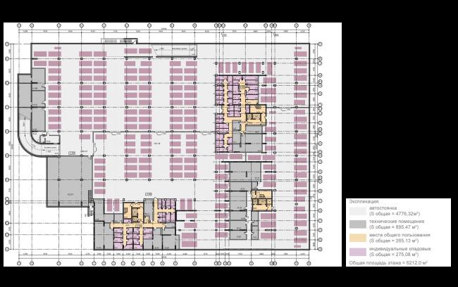 ЖК на 11-й Парковой улице. Схема плана 1 этажа © ГК «ОЛИМПРОЕКТ»