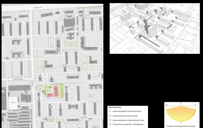 ЖК на 11-й Парковой улице. Схема ситуационного плана © ГК «ОЛИМПРОЕКТ»
